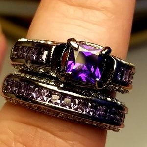 Jewelry - Two tone 925 stamped ring set